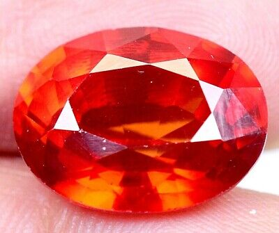 12.60 CT Ceylon's Natural Padparadscha Sapphire Oval Shape Certified Gem OF9813