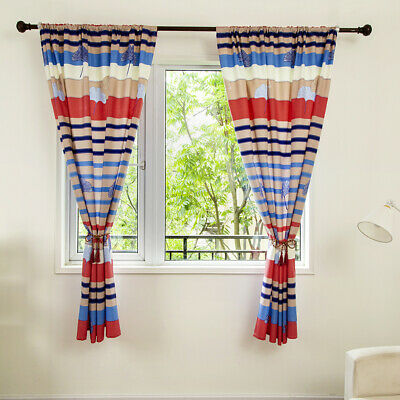 Blackout Curtains Striped Drapes Cloth Living Room Curtains Blinds Bay Window