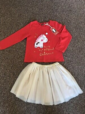 Girls Next Age 4-5 Years Christmas Outfit Top And Tutu