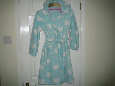 GIRL'S  M&S  HOODED  DRESSING  GOWN  -  Age 9-10  -  VGC