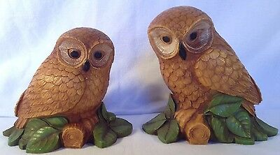 """Adorable Tiger Owl Couple Cute Figurines 6.5/"""" Tall Collectible Statue Decoration"""