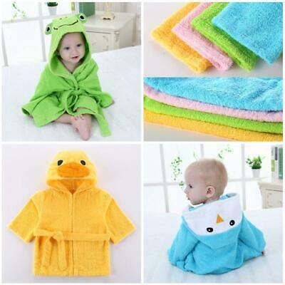 Animal Bathrobe Kids Girls Boys Pajamas Sleepwear Hooded Plush Robe Bath Towel