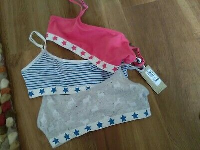 New Marks & Spencer  Cotton Crop Tops Age 9-10yrs