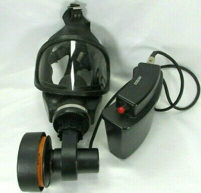 Vintage Full Face Respirator MSA PAPR Battery Motor Mask Filters Expired Working