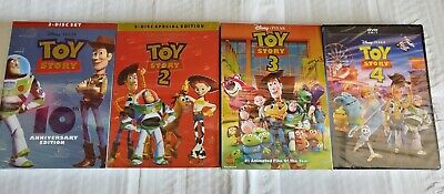 Toy Story 1 2 3 4 DVD Movie Bundles Brand New Free Shipping! USA!