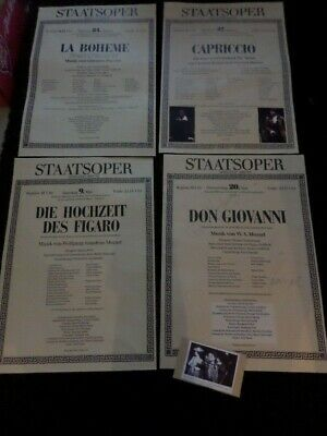 4 x VOLKSOPER OPERA POSTERS  - some with autographs - 1990s POSTERS - GERMAN