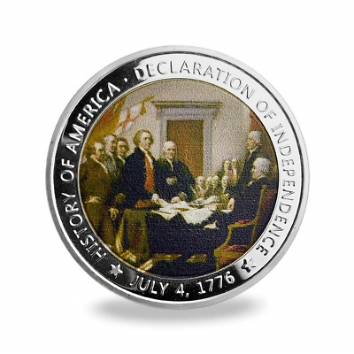 US Military Challenge Coin Presidential 1776 Declaration of Independence Comm...