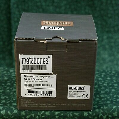 Metabones Speed-Booster for Nikon BMPC (Black Magic Pocket Camera)