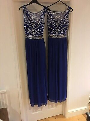 2 Royal Blue Bridesmaid Dresses 8 & 10