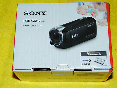 """Sony HDR-CX240 Blue HD Camcorder with 27x Optical Zoom, 2.7"""" LCD + Micro 32GB"""