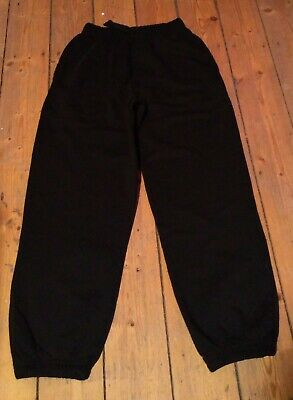 Girls Joggers Trousers Marks & Spencer M&S Age 10 Years Black.