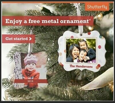 Shutterfly Metal Ornament Code New Shutterfly Customers Only Exp 1/31/2020