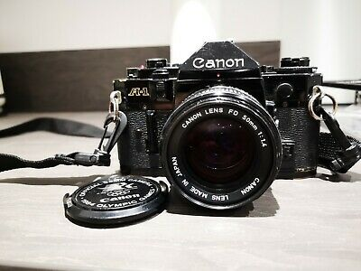 Canon A-1 35mm SLR Camera, lenses and accessories