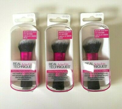 NEW Real Techniques Mini Sculpting Make-up Brush x 3 packets  - Stocking Filler