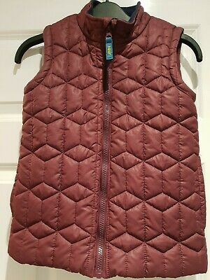 Ted Baker Girls Pink Quilted Gilet Age 9 Excellent Condition