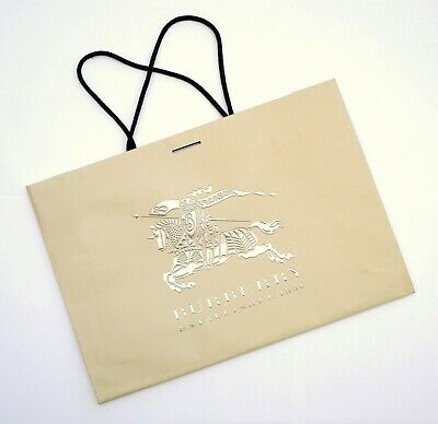 BURBERRY GIFT SHOPPING BAG CARRIER TOTE TRENCH COLOUR PAPER 42CM x 29CM x 11.3CM