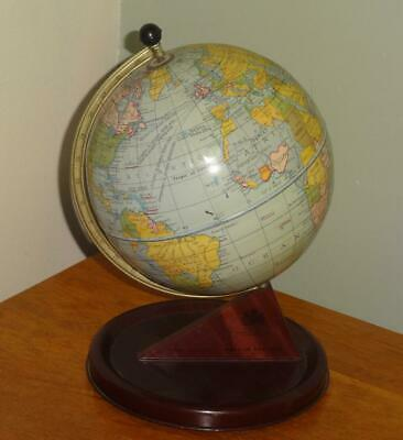 Vintage Chad Valley Tin Plate Educational World Globe - 1950s - VGC