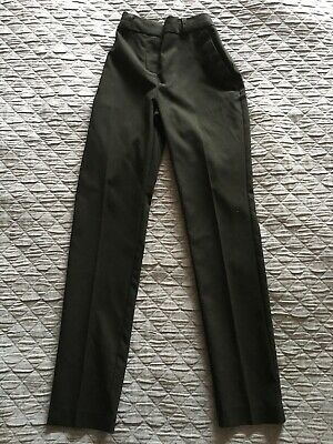 marks and Spencer school girl grey trousers age 13-14 plus fit X2 zip pocket