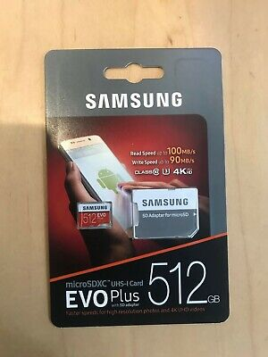 Micro SD Card SamSung Evo Plus 512 GB Read upto 100 MB/S with SD Adaptor