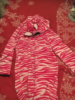 M&S Girls Pink& White Zebra All In One Suit 13-14yrs