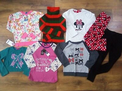 NEW and used Girls tops, jumpers, pjs, leggings mixed bundle 9-10 years