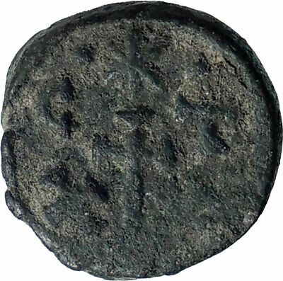 CONSTANS II 541AD Authentic Ancient CARTHAGE Half Follis Byzantine Coin i80720
