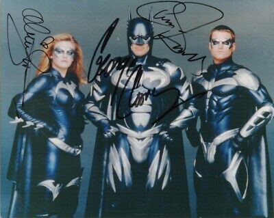 C-George Clooney/Chris O'donnell/Alicia Silverstone Autographed Batman & Rob-Coa