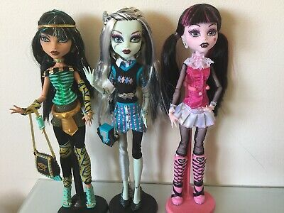 Monster High Lot X3 Cleo, Frankie And Draculaura