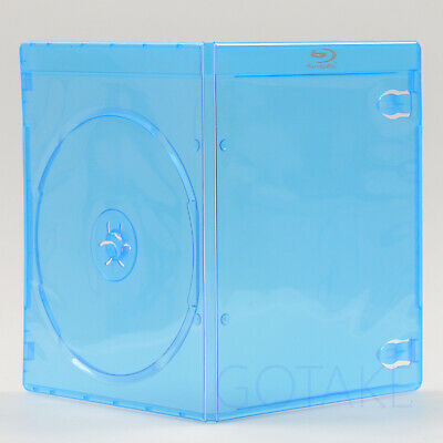 5 PACK Empty Blu-ray Logo Case 7mm Single CD DVD Disc Cover Storage Replacement