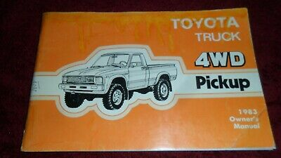 Toyota Hilux 4x4 pick-up owners manual   1983
