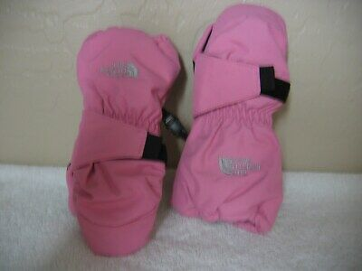 Auth New The North Face 3T Toddler Mittens TNF Kids Gloves  Pink