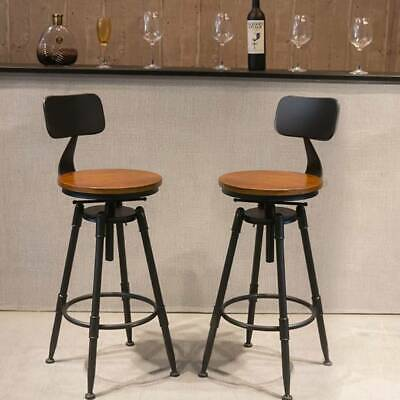 Breakfast Bar Stools Seat Industrial Retro Vintage Kitchen Dining Chair Christma