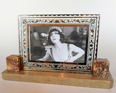 STYLISH ART DECO  marble / glass photo frame from 1930's FRANCE