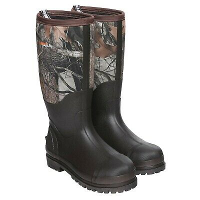 HISEA Rubber Hunting Boots for Men Waterproof Insulated Men's Neoprene Mu... New