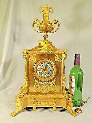 Stunning Large 19c French Clock Ormolu Mounts.