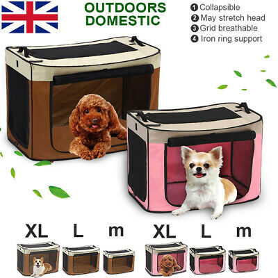 Portable Fabric Carrier Dog Cat Puppy Pet Folding Crate Cage Car Seat Travel Bag