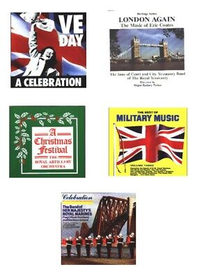 Collection of 10 brass, wind band and military music CDs