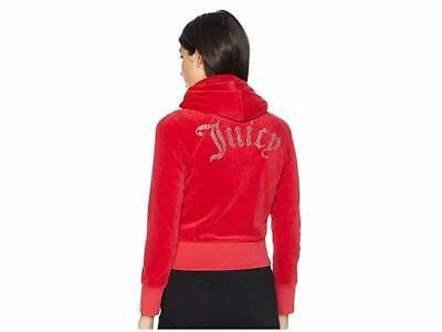 Juicy Couture Cropped Velour Jacket with Gothic Logo (Astor) Red Big Kids Coat