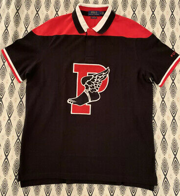 POLO RALPH LAUREN Classic Fit P-WING Mesh Polo Black / Red Men's Lg New NWT