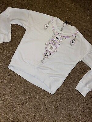 White Kenzo Jumper Age 16 Or Woman's Size 8