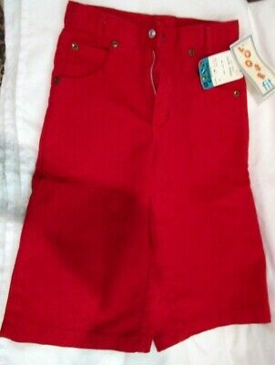 Children's Charlie's Red Garment Washed Loose Fit Jeans Shorts Size 8-Brand New!