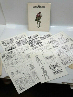 1980 Mars Attacks Portfolio of Roughs-Wally Wood-36 Prints- Ltd Ed 1200 (J-6049)