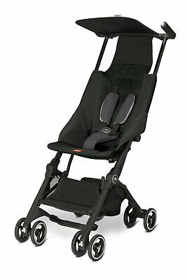 Goodbaby GB Pockit Compact Folding Traveling Baby Stroller in Monument Black