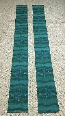 2 Matching Blue Green Altar Cloths + Made In Belguim + Vestment