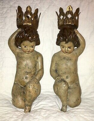Pair Of Cherub Sconces