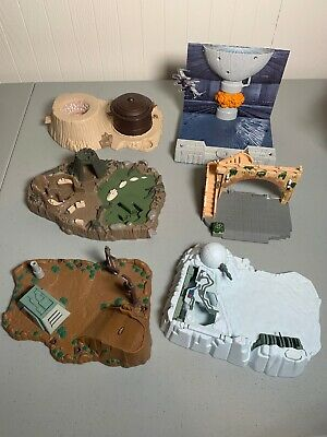 Lot of Star Wars Micro Machines Mini Playsets Bases Galoob 1994 and Hot Wheels