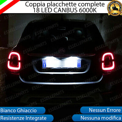Coppia Luci Targa Plafoniere Complete Fiat 500X Restyling 18 Led Canbus 6000K