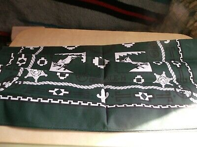 Collectible Green And Black Double H Boot Company Bandana