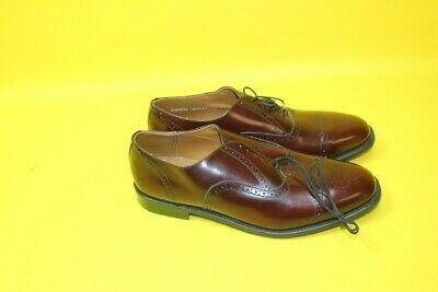 BN Sterling & Hunt Oxblood Leather Brogue Shoes Size 11.5 new ##KEG A19 JT