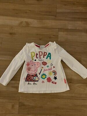 Peppa Pig Long Sleeved Top. Size 12-18 Months. Used In Excellent Condition.
